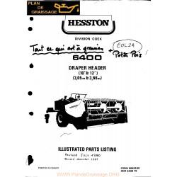 Hesston 6400 Draper Header Header