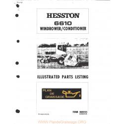 Hesston 6610 Windrower Conditioner