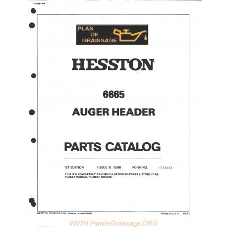 Hesston 666s Header
