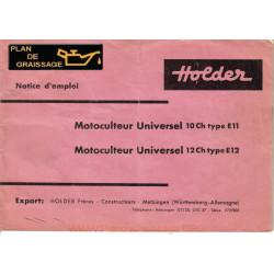 Holder E11 E12 Notice Motoculteurs