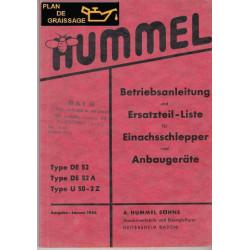 Hummel De52 De52a U50 2z Motoculteurs
