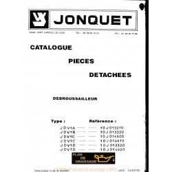 Jonquet Jdv1 Debroussailleur Pieces