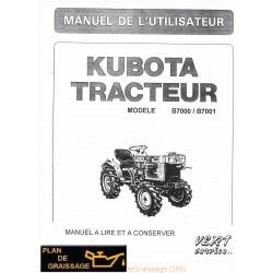 Kubota B7000 7001 Tracteur