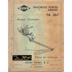 Kuhn Fa 367 Faucheuse