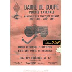 Kuhn Renault 7050 3051 Barre De Coupe