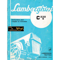 Lamborghini C 230s Instruction Entretien Chenillards