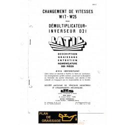 Latil W17 25 D21 Demultiplicateur