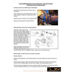 Leyland Tractor Hydraulic Adjustments