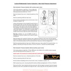 Leyland Tractor Hydraulic Pressure Adjustment