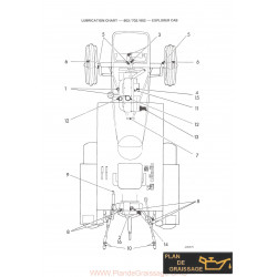 Leyland Tractor Lubrication Chart 602 702 802 Explorer Cab