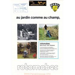 Mabec Rotomabec Motoculteurs