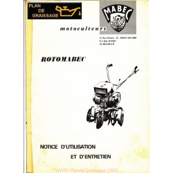 Mabec Rotomabec Notice Motoculteurs