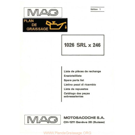 Mag 1026 Srlx 246 Moteur